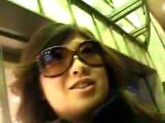 Big двубортный красоты с очками даёт сказочный blowjo