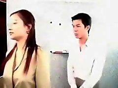 Chinese capo femminile scopare impiegato