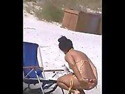 Spion spanischen reizvolle Strand den Arsch von 60