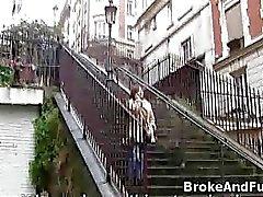 Bigtit French amateur sucks for cash