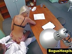 Non-Professional euro pussyfucked in doctors office