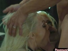 Jesse Jane and Riley Steele fucking the janitor