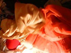 Doll Schwanz Abendkleid Slip wichsen & der Knicker Sperma .