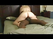 Hot blonde gives her pussy to black bull