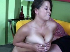Sensational beauty with big natural tits gets rammed