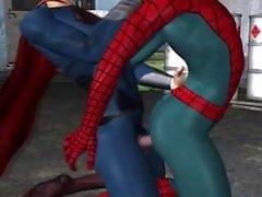 Superman fickt Spiderman