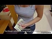 HOT busty brunette student is paid for sex while riding the train 08