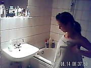Caught Niece having a bath on hidden cam - iS