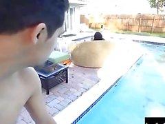 Angelina Castro Sucks Off the Poolboy!