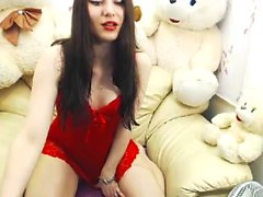 Eva Angel Dances i Underkläder Masturbate
