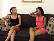 Big Black Dildo For Two Horny Ebony Babes
