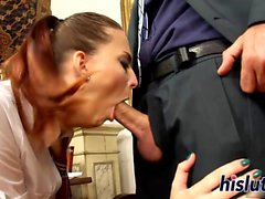 Kinky schoolgirl bangs her hung teacher