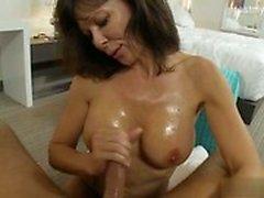 Nice girl titfuck cum