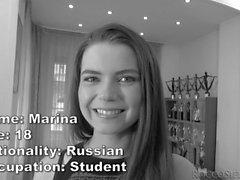 Russian Marina rides an enormous dick