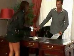 Christina Bella spreads in the office