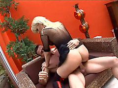Breasty blond mother i'd like to fuck has sex in haunch high nylons