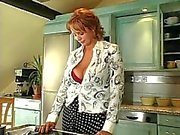 Caliente Pelirrojo Rusia de Milf jodida a la cocina