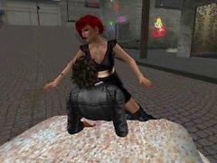 Ginileen qui se fait attraper par un mec dans un quartier