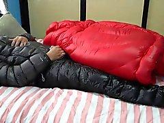 Ejacular de Down infinita Jacket - Gozada na jaqueta