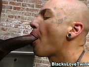 Twink rides bbc and cums