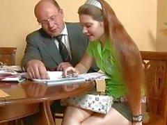 Älter Lehrers werfen jugendlich babes Biber