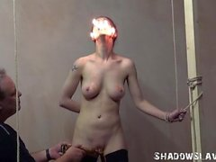 Cruel burning and electro bdsm of tortured slaveslut in extreme dungeon