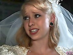 Bride busty blonde