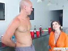 Mature MILF Sara Jay Slutty Step Mom loves Her Pussy Pounded