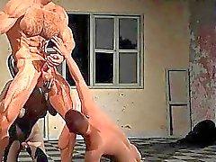 Bemuskelt 3D Homosexuell mit Riesenschwänze !