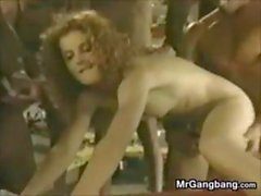 Wild Gang Bang With A White Slut Classic