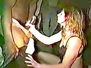Slut Wife Gang Bang in XXX Adult Theater