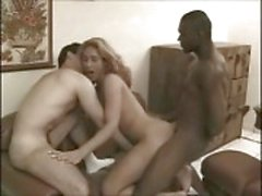Interracial anal sex with a nasty T girl
