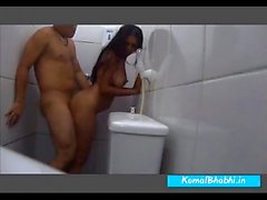 indian maid secretly getting fucked in the bathroom