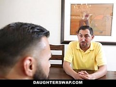 DaughterSwap - Slutty Besties foda eachothers Dads