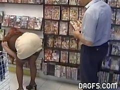 MILF fucks in public