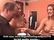 Wonderful lovely sexy girls with natural tits getting gangbang fucking