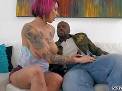 Spizoo - Anna Bell is punished by a monster BBC, big boobs & big booty
