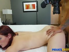 Private Casting X - Hairy nubile loves rough fuck