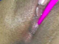 Orgasm, sprutande, fitta, sammandragningar, våt, milf, Latina,