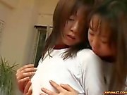 2 Schoolgirls In Training Dress Fingering Rubbing In Scissor Fucking Hairy