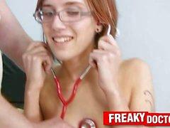 Skinny girlie Jane medical exam prior gyno exam