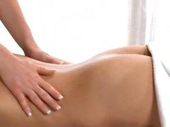 Lesben Massage Dildo anal und spritzen Muschi