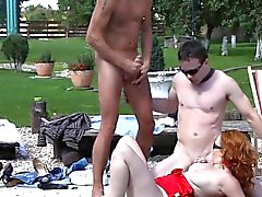 Sluts and studs cummed on in orgy