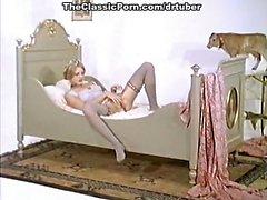Verrückte vintage Geschlechtsverkehr star im klassische Sex -Video