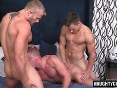Big Dick Homosexuell Dreier und Cumshot