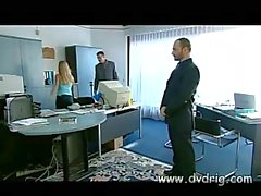 High Class Blonde Secretary Kyra Banks Fucks Two Of Her Bosses In Their Office Making Them Pop Their Loads Of Cum On Her Face Threesome Anal Sex