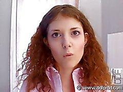 Redhead tiener casting vid