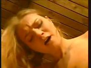 Busty brunette Rita Faltayano is getting her pussy nailed in the barn