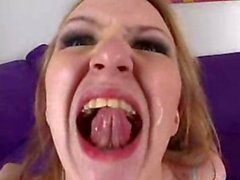 Jacqueline Summers loves being coated with jizz all over her lips