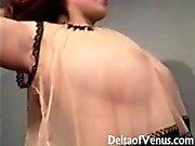 Vintages Erotisches 1960er Jahre - Nude Vollbusige Girl with Behaarte Muschi